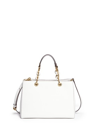 Back View - Click To Enlarge - Michael Kors - 'Cynthia' medium saffiano leather satchel