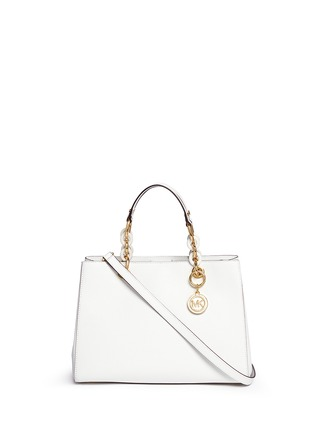 Main View - Click To Enlarge - Michael Kors - 'Cynthia' medium saffiano leather satchel