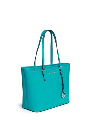 Front View - Click To Enlarge - Michael Kors - 'Jet Set Travel' saffiano leather top zip tote