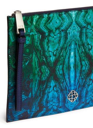 Detail View - Click To Enlarge - RAFÉ - 'Alexa' malachite print zip pouch