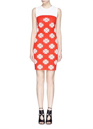 首图 - 点击放大 - ALEXANDER MCQUEEN - Flower jacquard knit skater dress