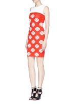 Flower jacquard knit skater dress
