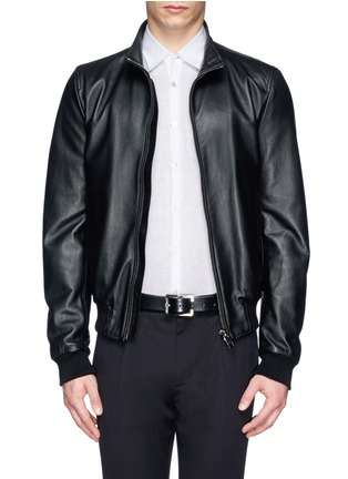 Dolce & Gabbana - Leather racer jacket