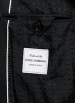Micro dot wool three-piece suit