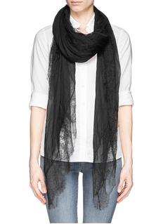 FALIERO SARTI'New Sandra' lace border cashmere blend scarf