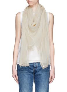 FALIERO SARTI'Tracy' lace border modal-cashmere scarf