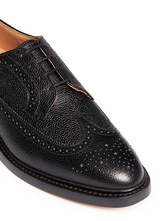 Detail View - Click To Enlarge - Thom Browne - Pebble leather brogue Derbies