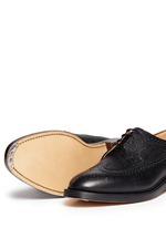 Pebble leather brogue Derbies