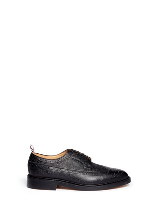 Main View - Click To Enlarge - Thom Browne - Pebble leather brogue Derbies