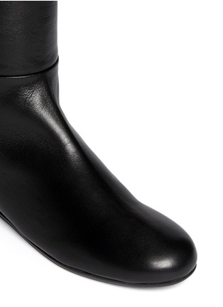 Detail View - Click To Enlarge - Giuseppe Zanotti Design - 'Balet' zip leather thigh high boots