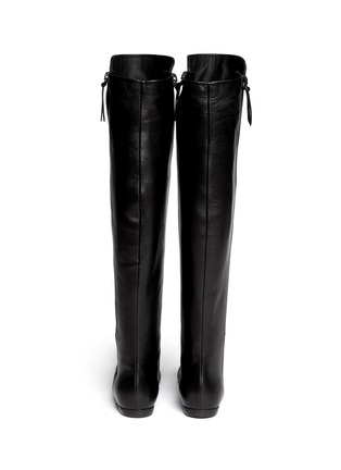 Back View - Click To Enlarge - Giuseppe Zanotti Design - 'Balet' zip leather thigh high boots