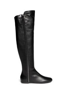 GIUSEPPE ZANOTTI DESIGN'Balet' zip leather thigh high boots