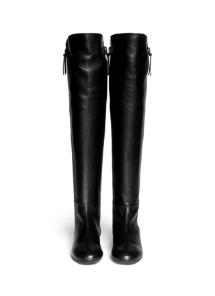 Figure View - Click To Enlarge - Giuseppe Zanotti Design - 'Balet' zip leather thigh high boots