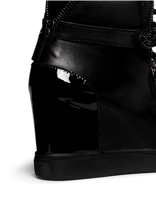 Detail View - Click To Enlarge - Giuseppe Zanotti Design - 'Lorenz' nappa leather wedge sneakers