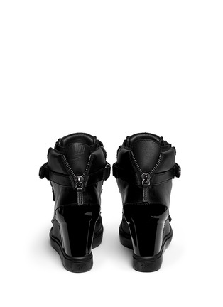 Back View - Click To Enlarge - Giuseppe Zanotti Design - 'Lorenz' nappa leather wedge sneakers