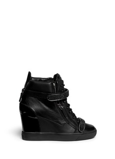 GIUSEPPE ZANOTTI DESIGN 'Lorenz' nappa leather wedge sneakers