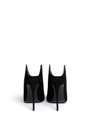 Back View - Click To Enlarge - Giuseppe Zanotti Design - U-throat suede mules