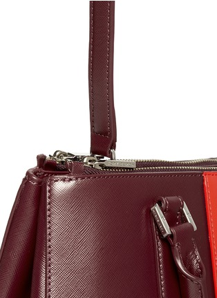 Detail View - Click To Enlarge - Tory Burch - 'Robinson' saffiano mini double zip tote