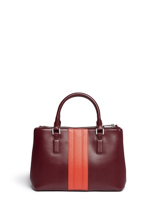 Back View - Click To Enlarge - Tory Burch - 'Robinson' saffiano mini double zip tote