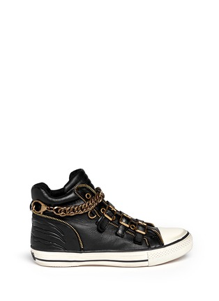 Main View - Click To Enlarge - Ash - 'Velvet' detachable chain high top sneakers