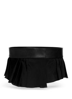 NEIL BARRETT'Buckless' leather pleat belt