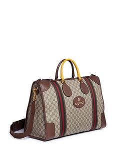 GucciWeb trim GG Supreme canvas duffle bag