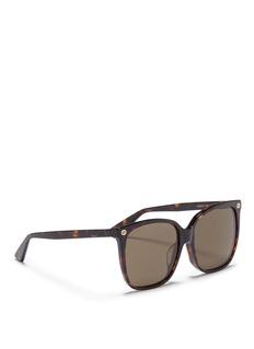 GucciGG logo tortoiseshell acetate square sunglasses