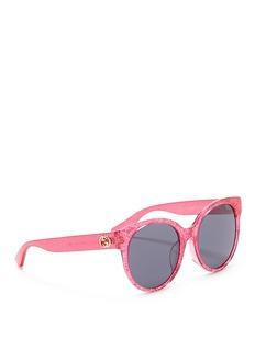 Gucci Glitter acetate round sunglasses
