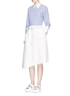FFIXXED STUDIOSTie waist textured wrap skirt