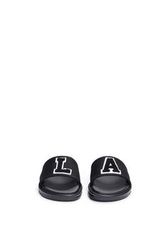 Joshua Sanders'L.A.' appliqué jersey kids slide sandals