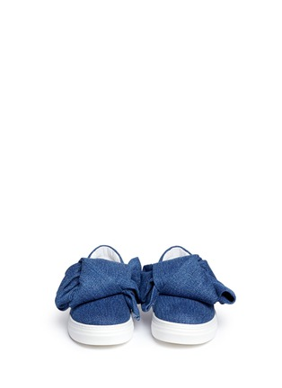 Figure View - Click To Enlarge - Joshua Sanders - Twist bow denim kids skate slip-ons