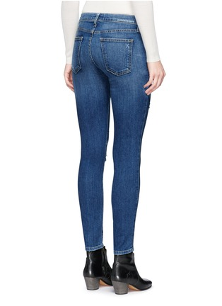 Back View - Click To Enlarge - Current/Elliott - 'The Stiletto' skinny fit distressed jeans