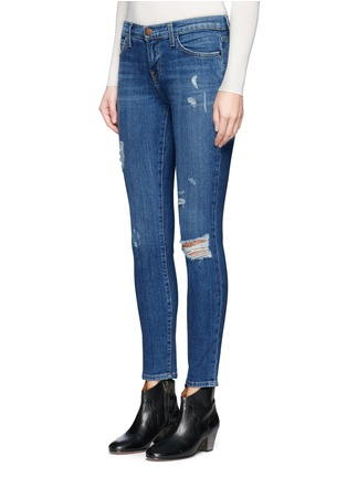 Front View - Click To Enlarge - Current/Elliott - 'The Stiletto' skinny fit distressed jeans