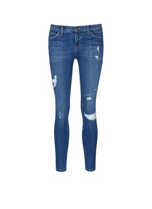 Main View - Click To Enlarge - Current/Elliott - 'The Stiletto' skinny fit distressed jeans