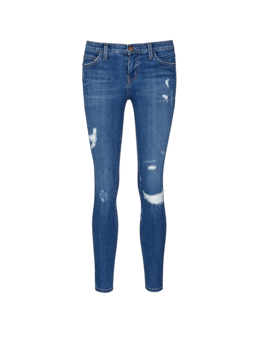 The Stiletto skinny fit distressed jeans by Current/Elliott
