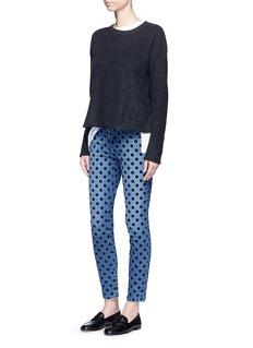 Current/Elliott'The Stiletto' flocked polka dot jeans