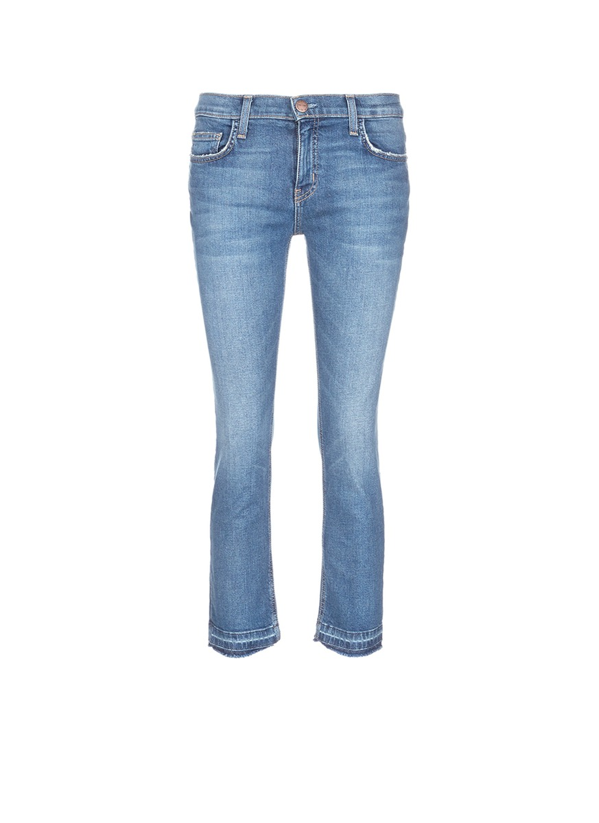 The Cropped Straight released cuff jeans by Current/Elliott