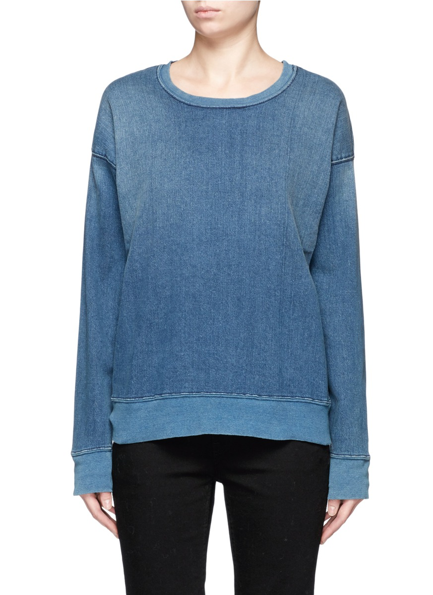 The Ivy League cotton denim sweatshirt by Current/Elliott