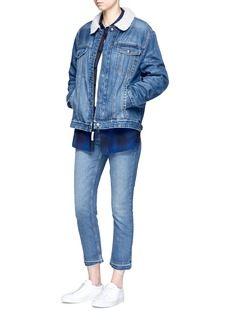 Current/Elliott'The Zip Hendrix' faux shearling denim jacket