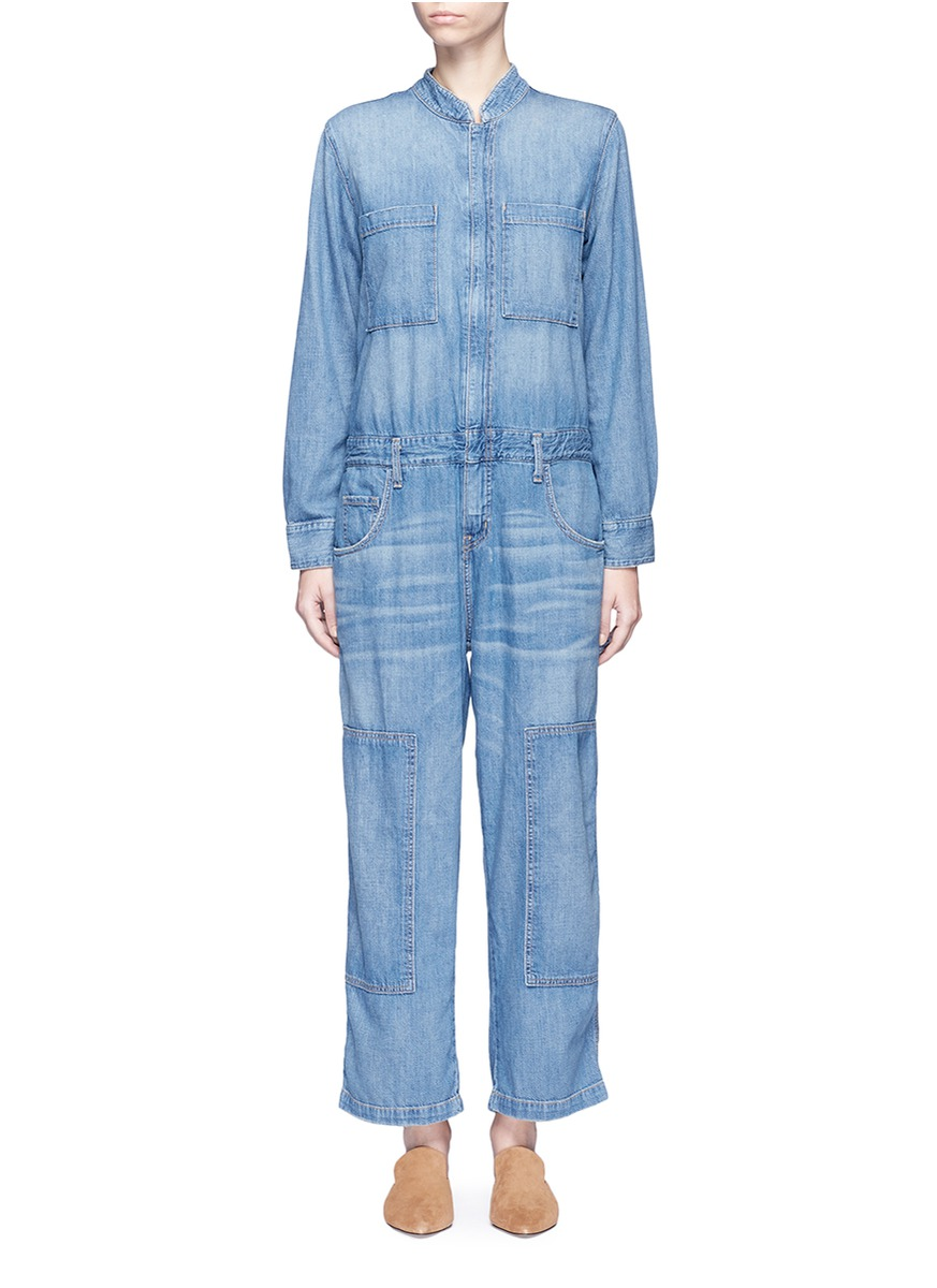 The Janitor cropped leg denim coveralls by Current/Elliott