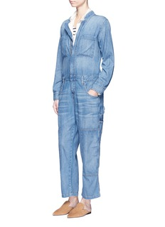 Current/Elliott 'The Janitor' cropped leg denim coveralls