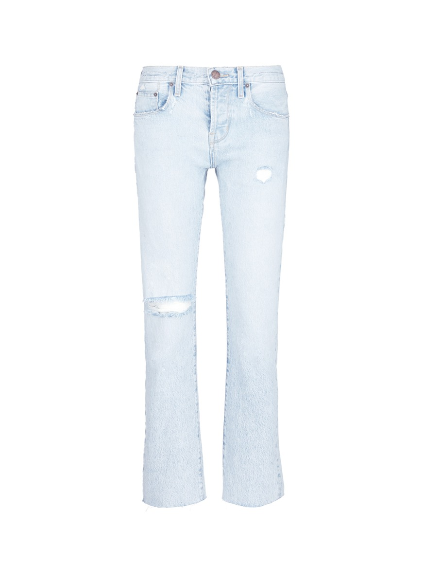 The Crossover distressed boyfriend jeans by Current/Elliott