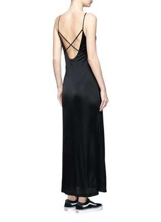 Back View - Click To Enlarge - T By Alexander Wang - Crossover strap jersey maxi dress