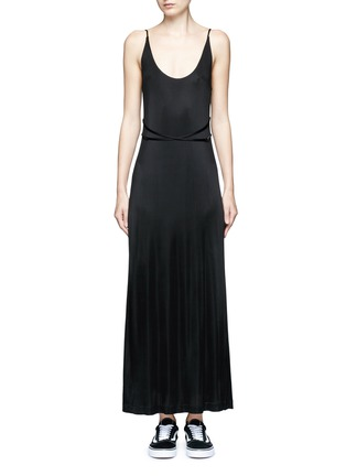 Main View - Click To Enlarge - T By Alexander Wang - Crossover strap jersey maxi dress