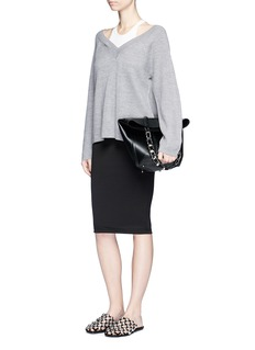T By Alexander Wang Ponte knit pencil skirt