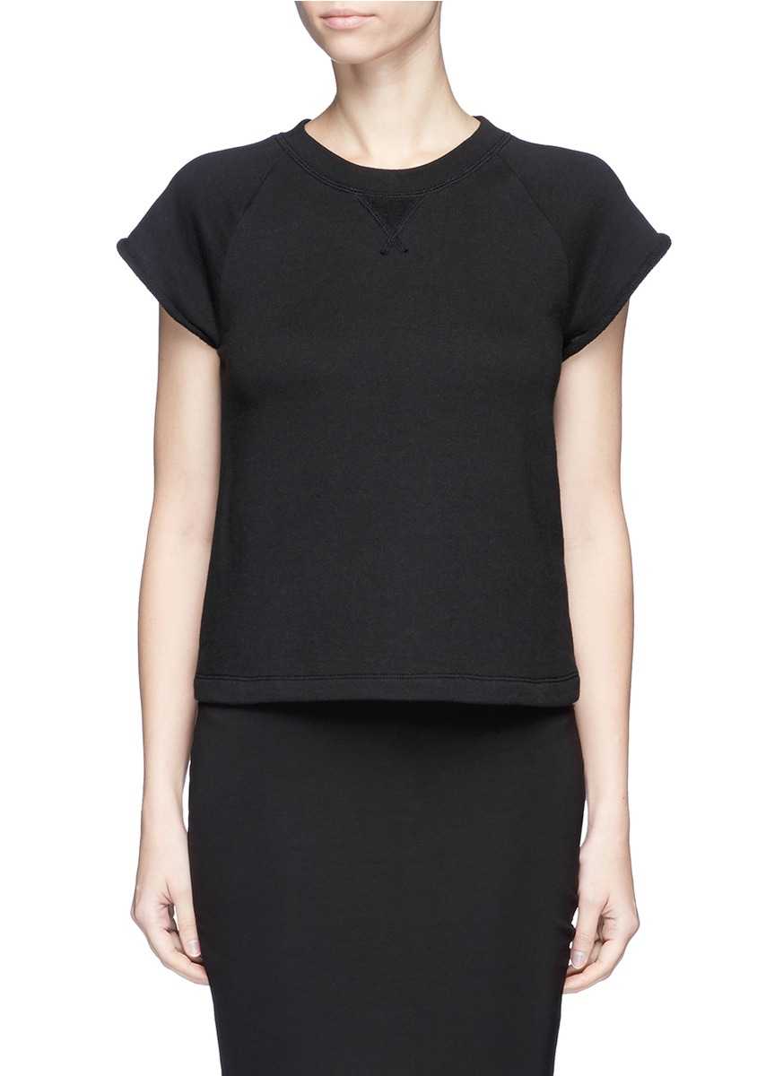 Raglan short sleeve French terry sweatshirt by T By Alexander Wang