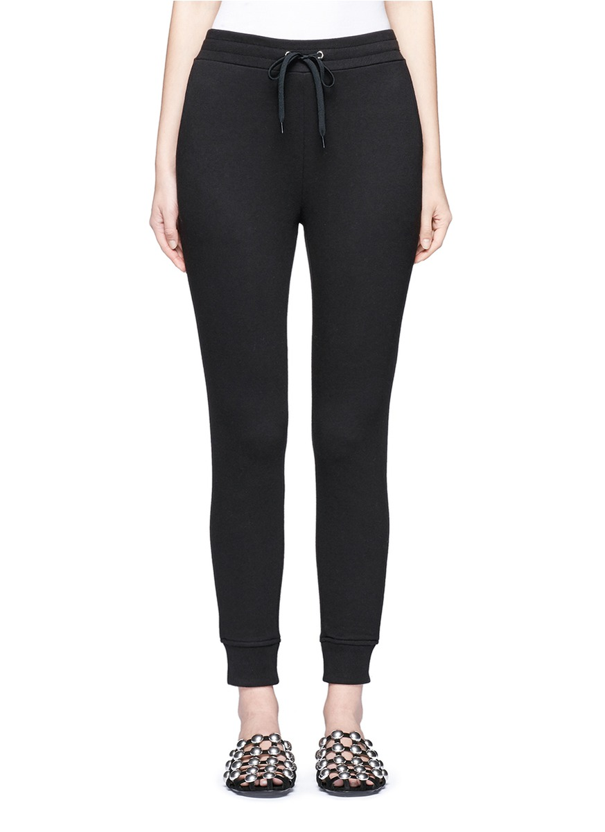 Elastic cuff French terry sweatpants by T By Alexander Wang