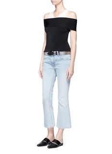T By Alexander Wang Off-shoulder rib knit top