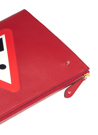 Detail View - Click To Enlarge - Anya Hindmarch - 'Men at Work' leather document case