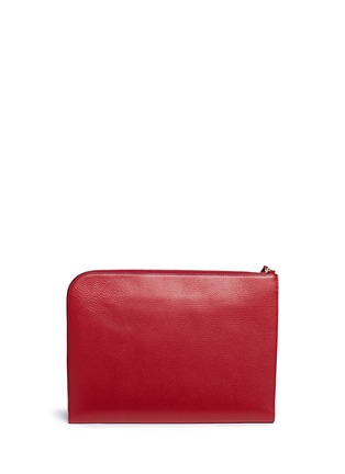 Back View - Click To Enlarge - Anya Hindmarch - 'Men at Work' leather document case